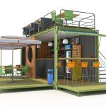 3d 3d Container Cafe Cgtrader