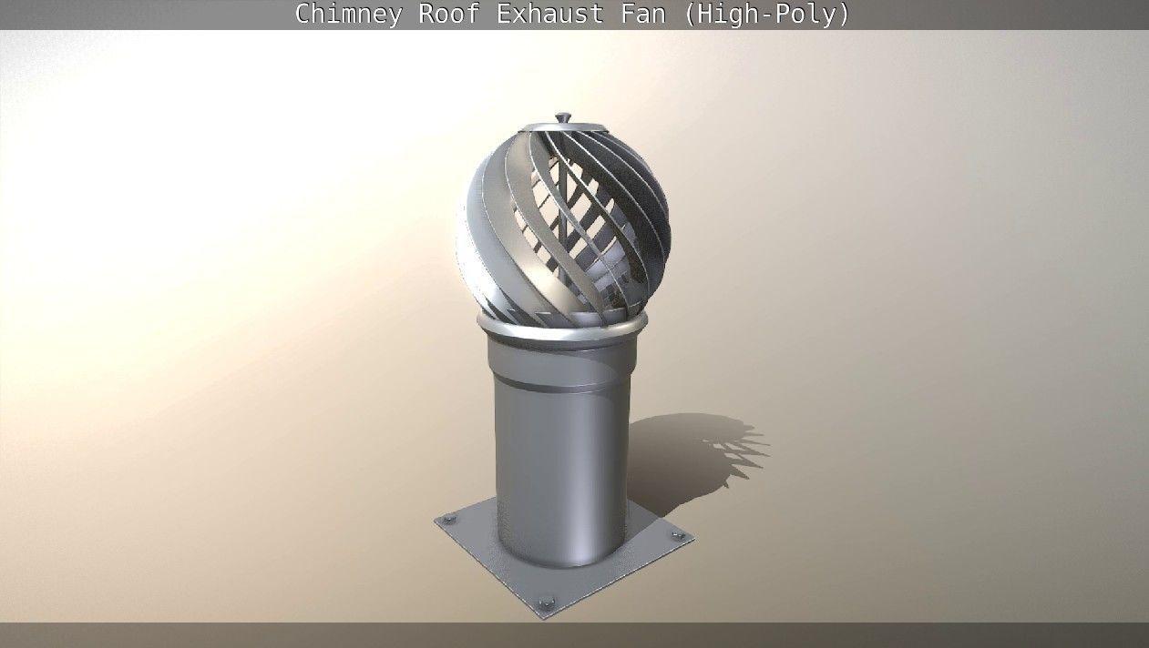 chimney roof exhaust fan 3d model