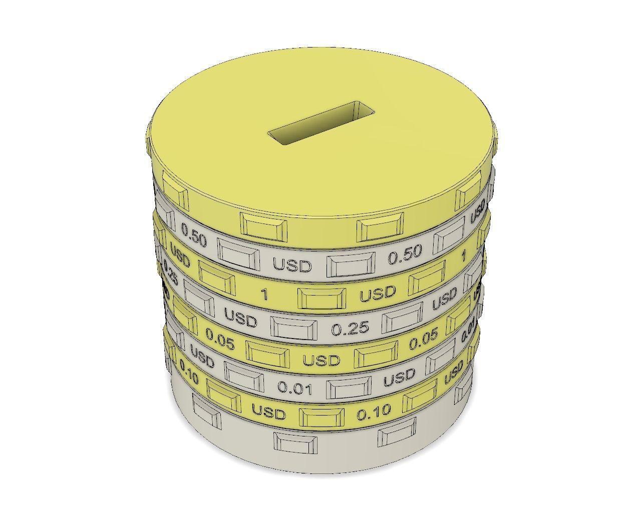 3d Printable Model Sorting Piggy Bank Usd