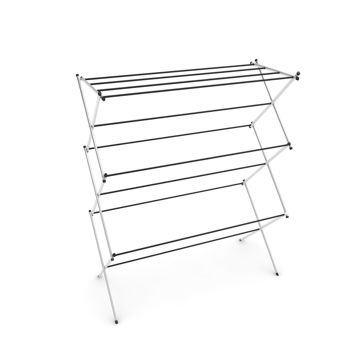 foldable clothes drying laundry rack 3d model