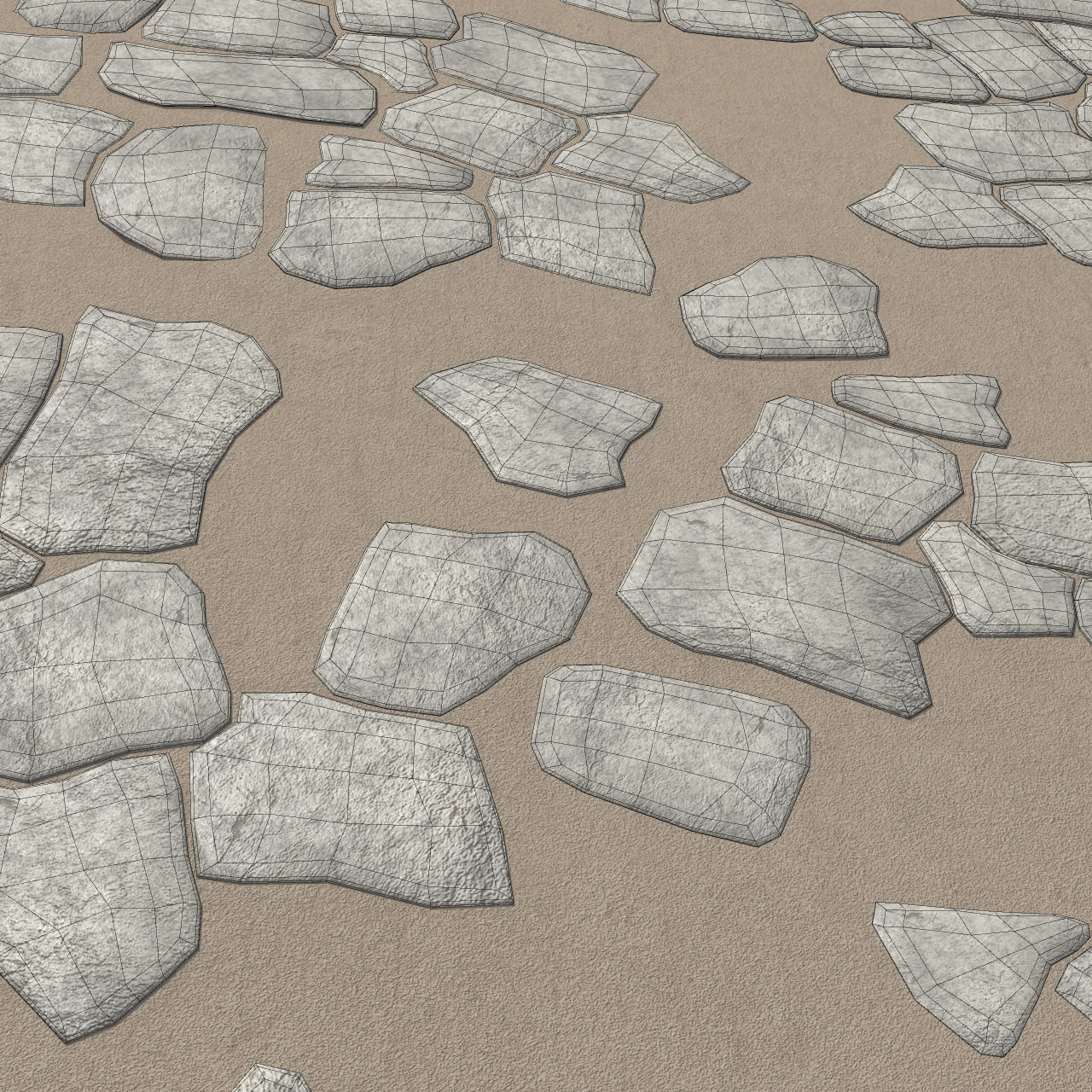 Rock Tiles 3D Model OBJ FBX MA MB   CGTrader.com on Tile Models  id=25876