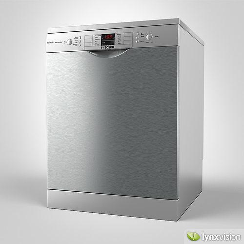 Bosch Freestanding Dishwasher 3D CGTrader