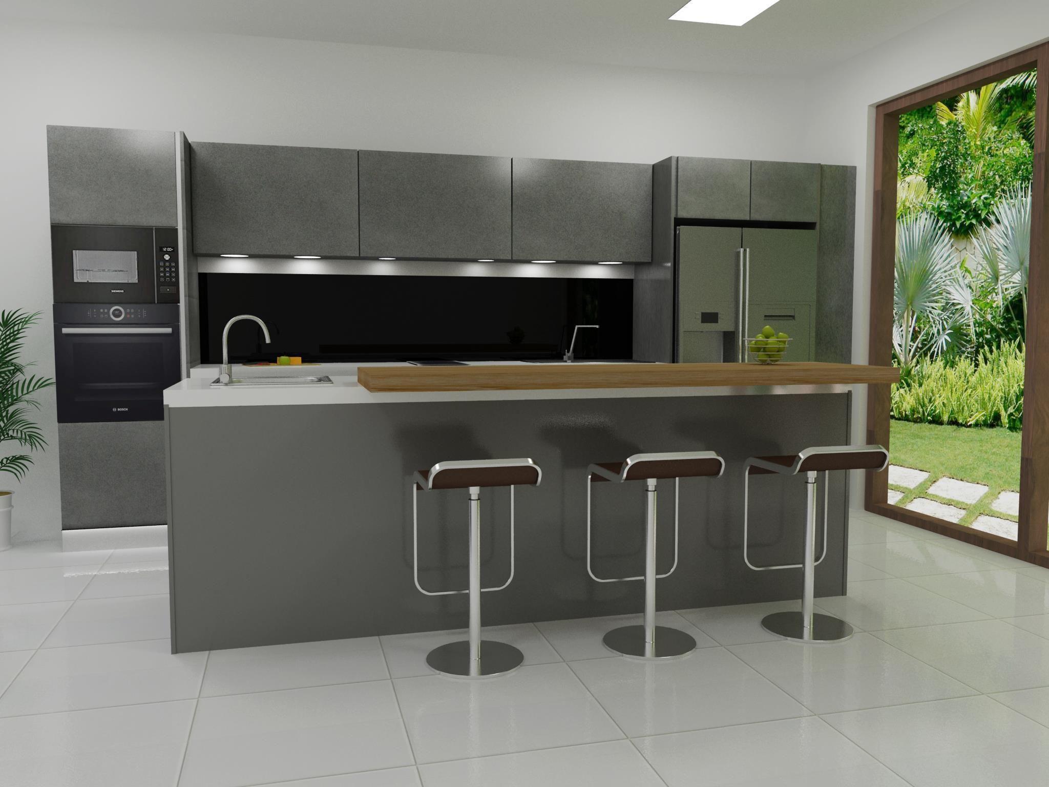 Modern Kitchen 3D wooden | CGTrader on Modern Model Kitchen  id=56381