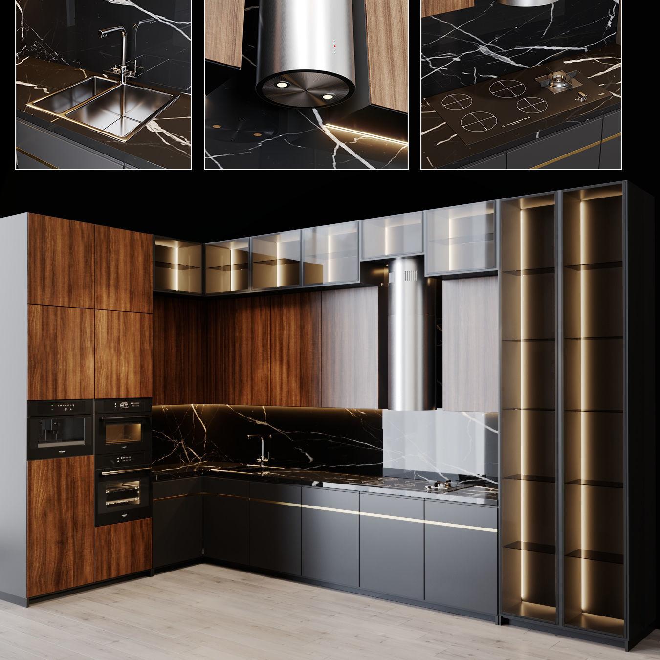 3D Kitchen Modern 15 | CGTrader on Model Kitchen  id=41862