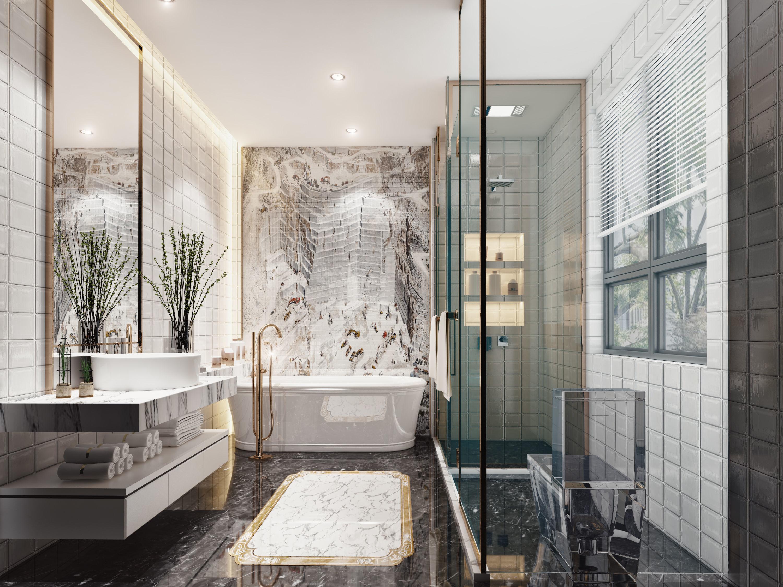other 3D Luxury bathroom   CGTrader on Model Bathroom  id=79220