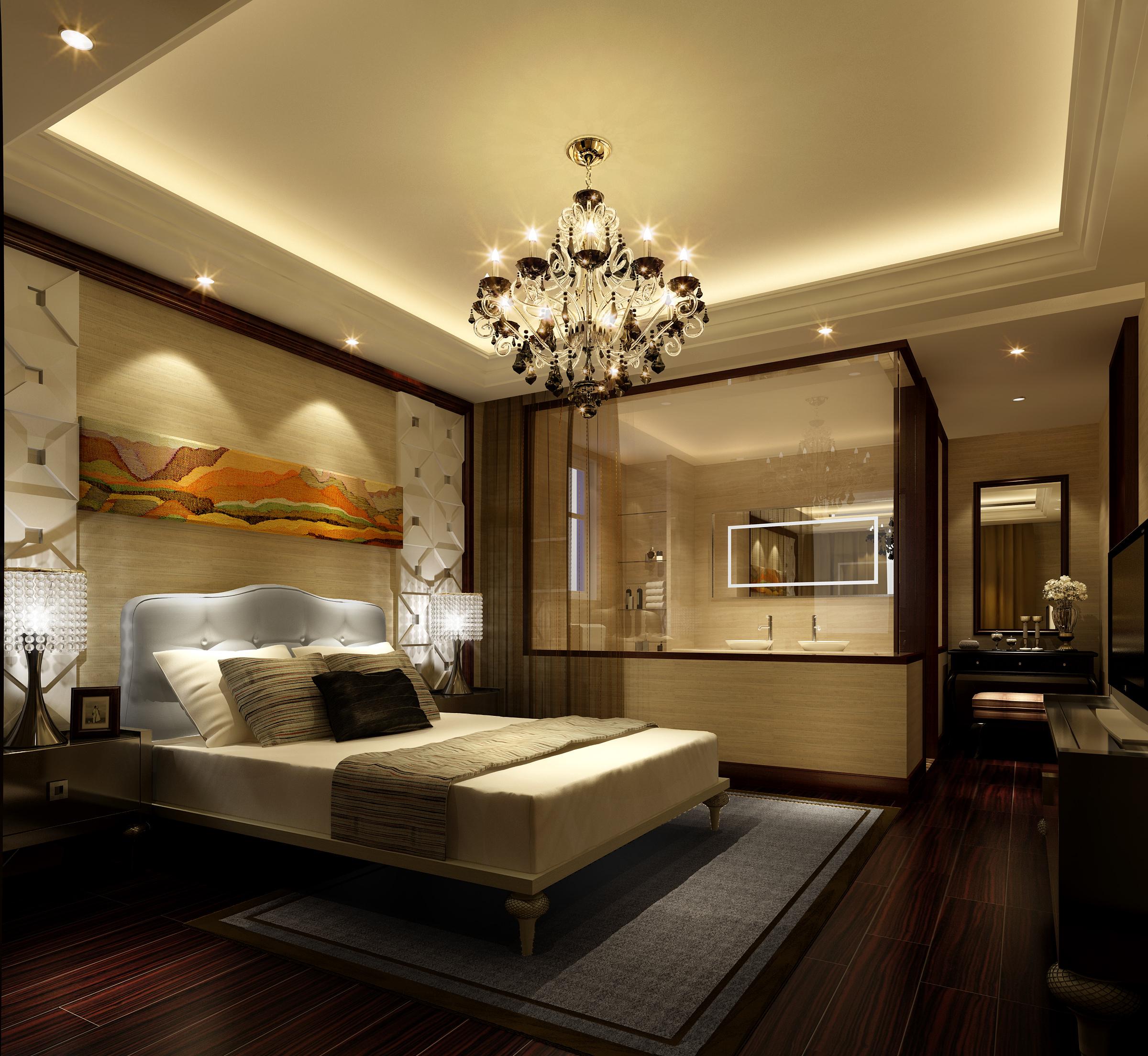 Bedroom with bathroom 3D Model MAX | CGTrader.com on Bathroom Models  id=45691