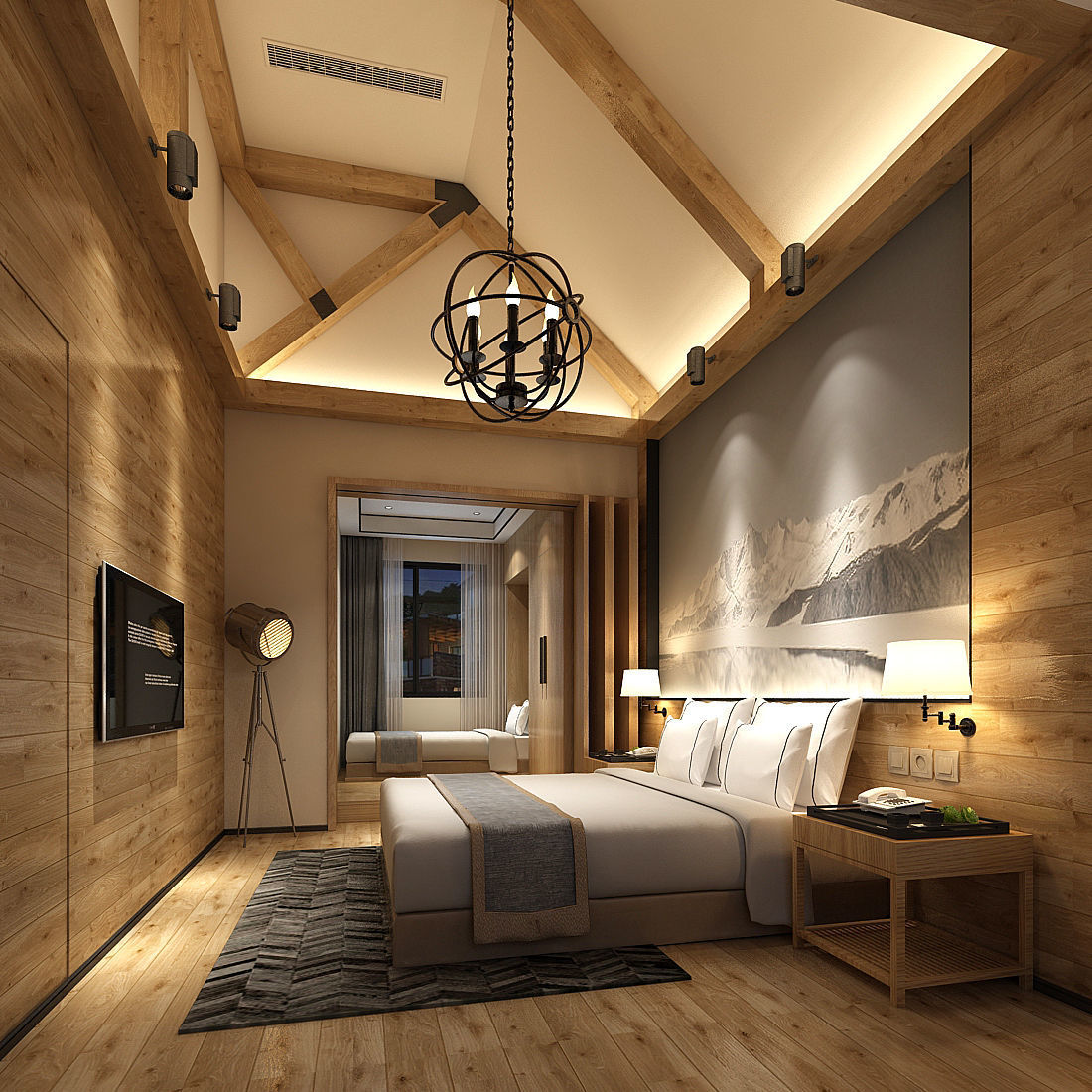 3D Deluxe master bedroom design 19 | CGTrader on Model Bedroom Ideas  id=56028