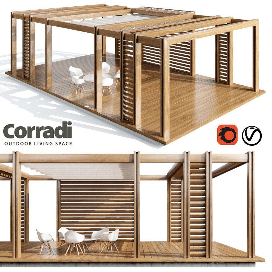 3D model Pegola Corradi outdoor living space   CGTrader on Corradi Outdoor Living id=66565