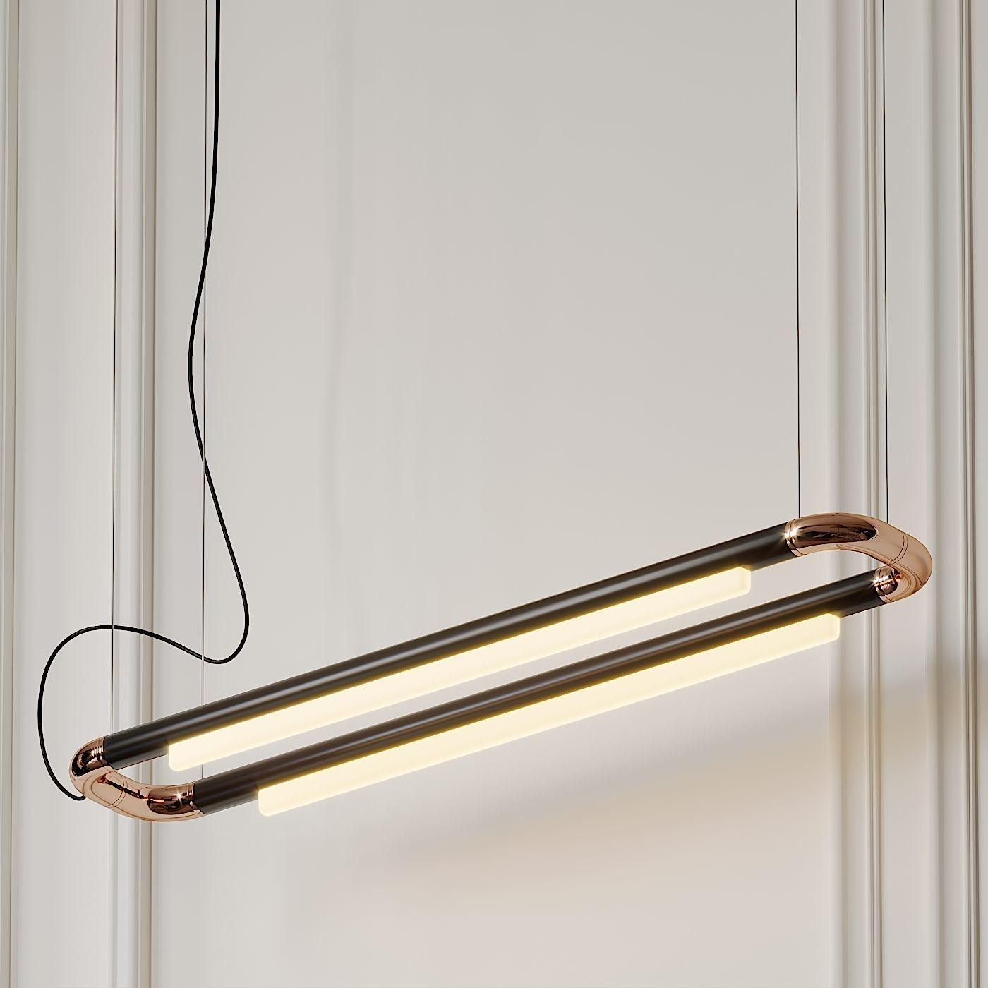 pipeline cm6 led linear suspension light by andlight 3d model