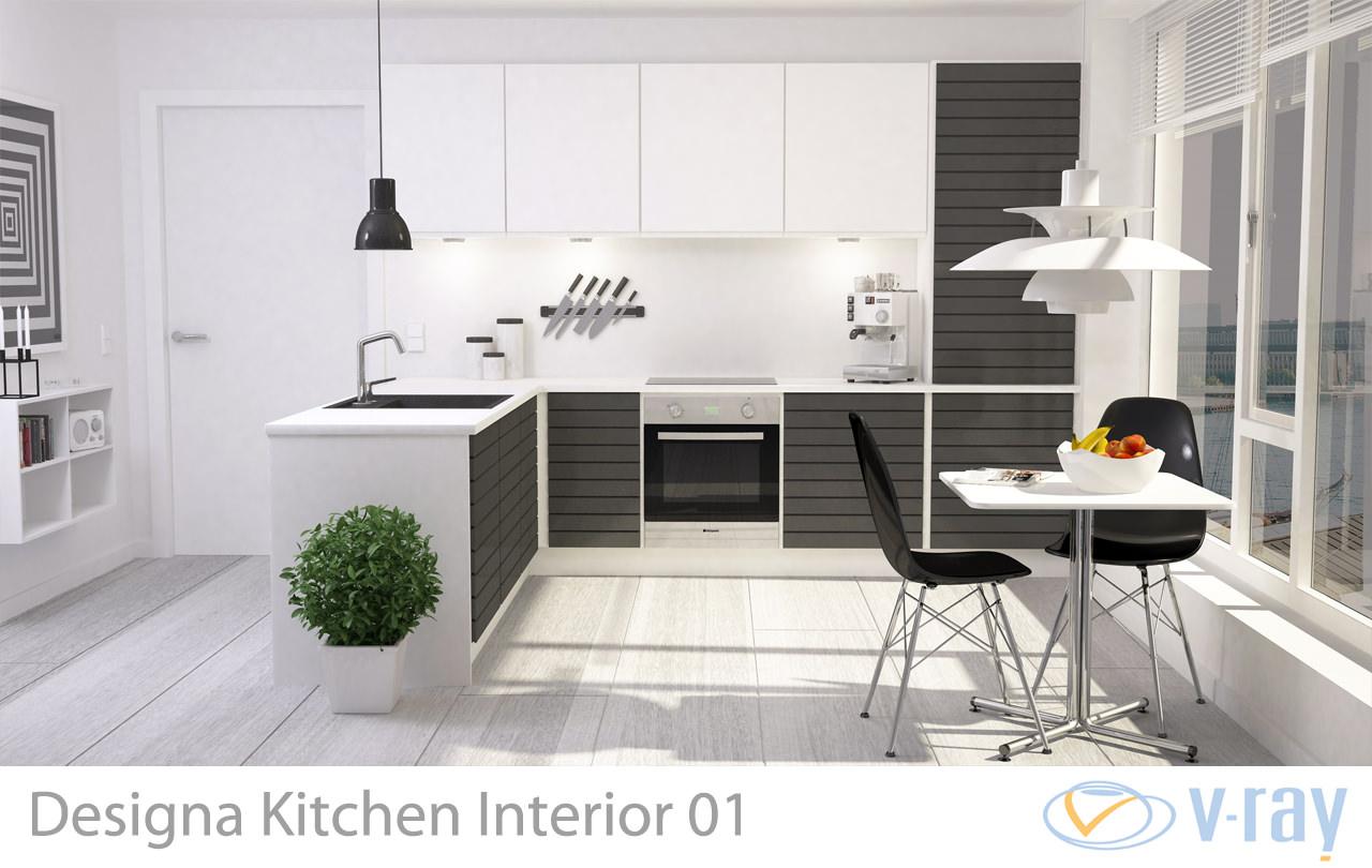 Modern Kitchen Interior 001 3d Model