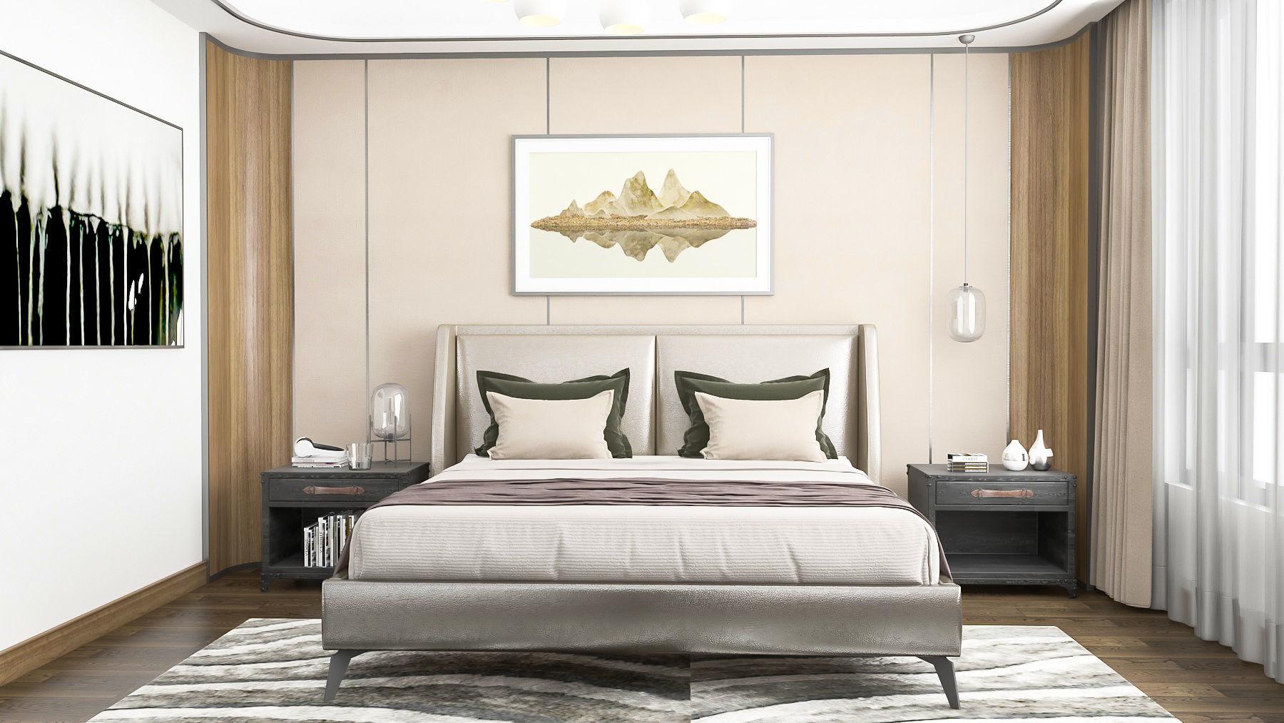 Bedroom interior Design VRay Render 3D model MAX FBX on Model Bedroom Interior Design  id=68009