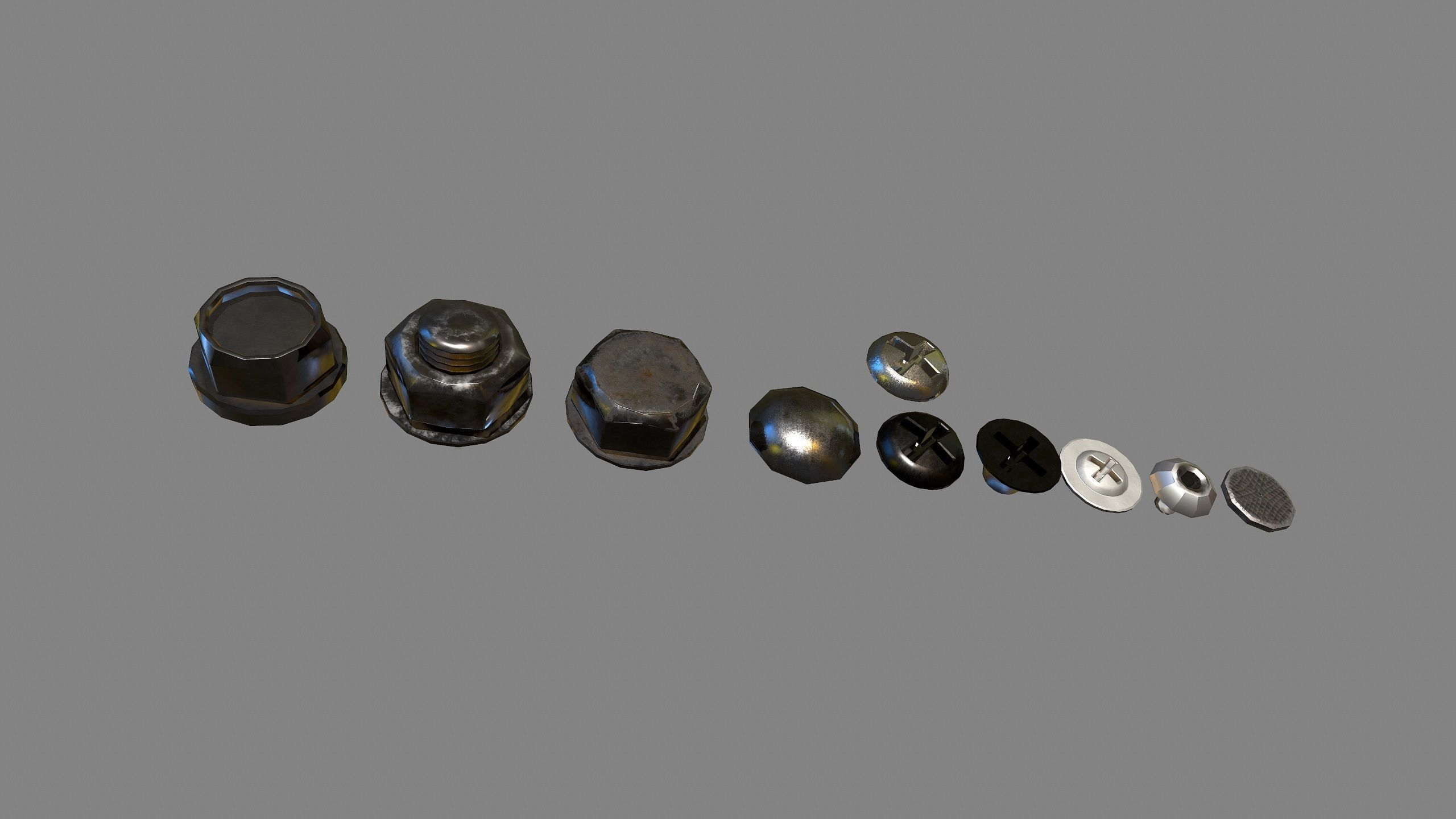 3d Model Bolts Nuts And Screws Vr Ar Low Poly Max Obj