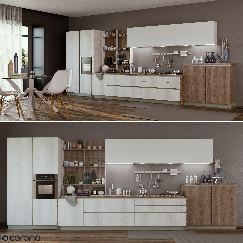Kitchen Cucine Stosa Infinity 3D model MAX OBJ FBX on Modern:8-Rtxafges8= Model Kitchen  id=22122
