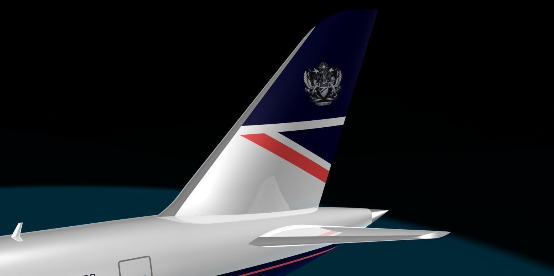 British Airways 787 9 New Logo 3d Model Max Cgtrader Com