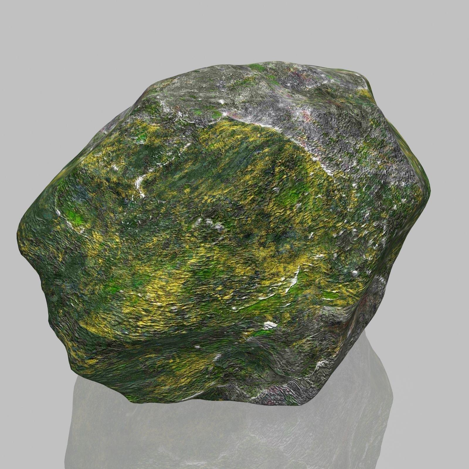 3D model Rock Stone 2 VR / AR / low-poly MAX OBJ 3DS FBX ... on Granite Models  id=83771