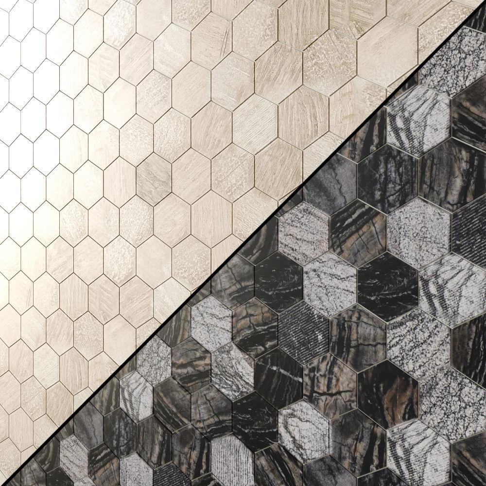 msi hexagon mosaic tile 3d model