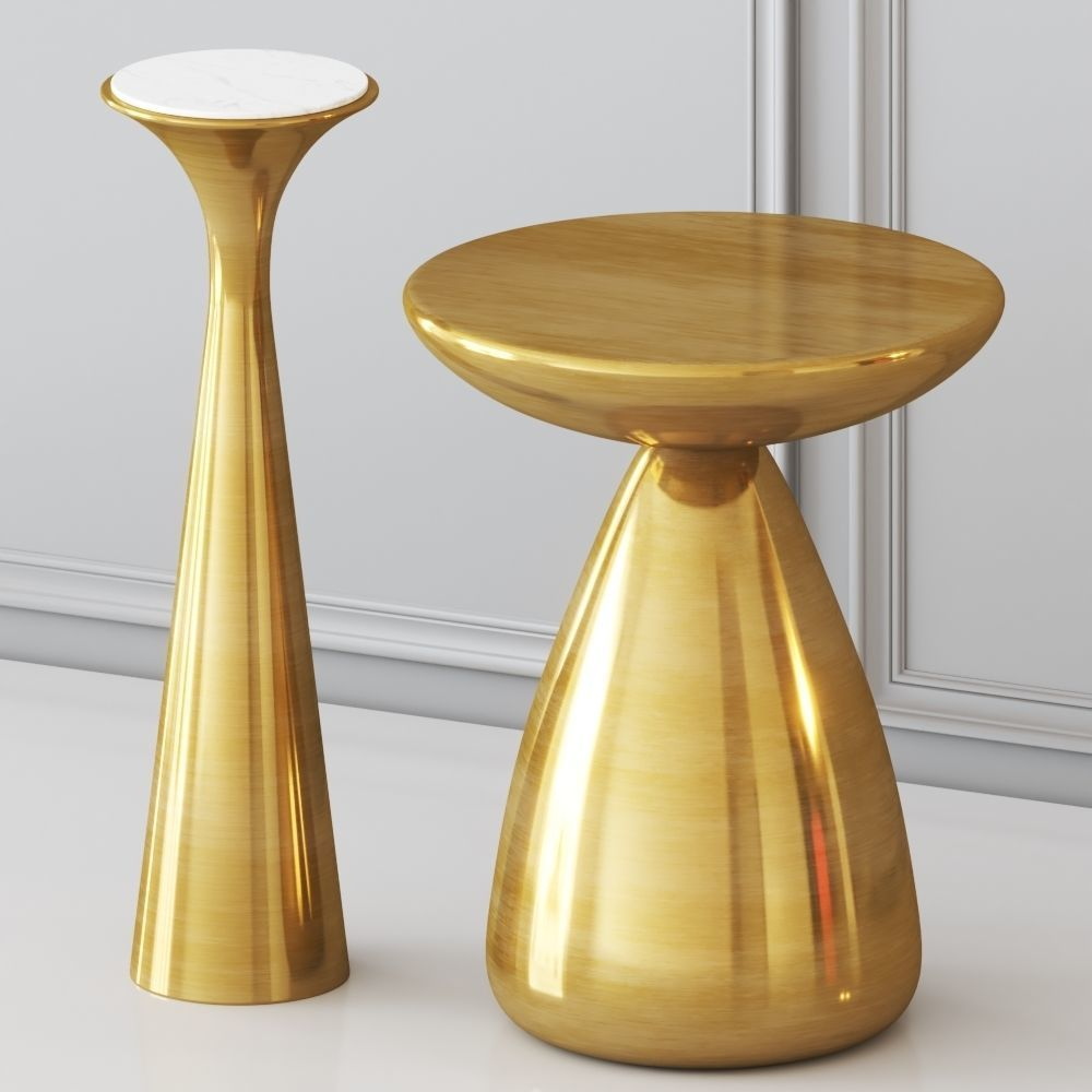 west elm cosmo and silhouette side tables 3d model