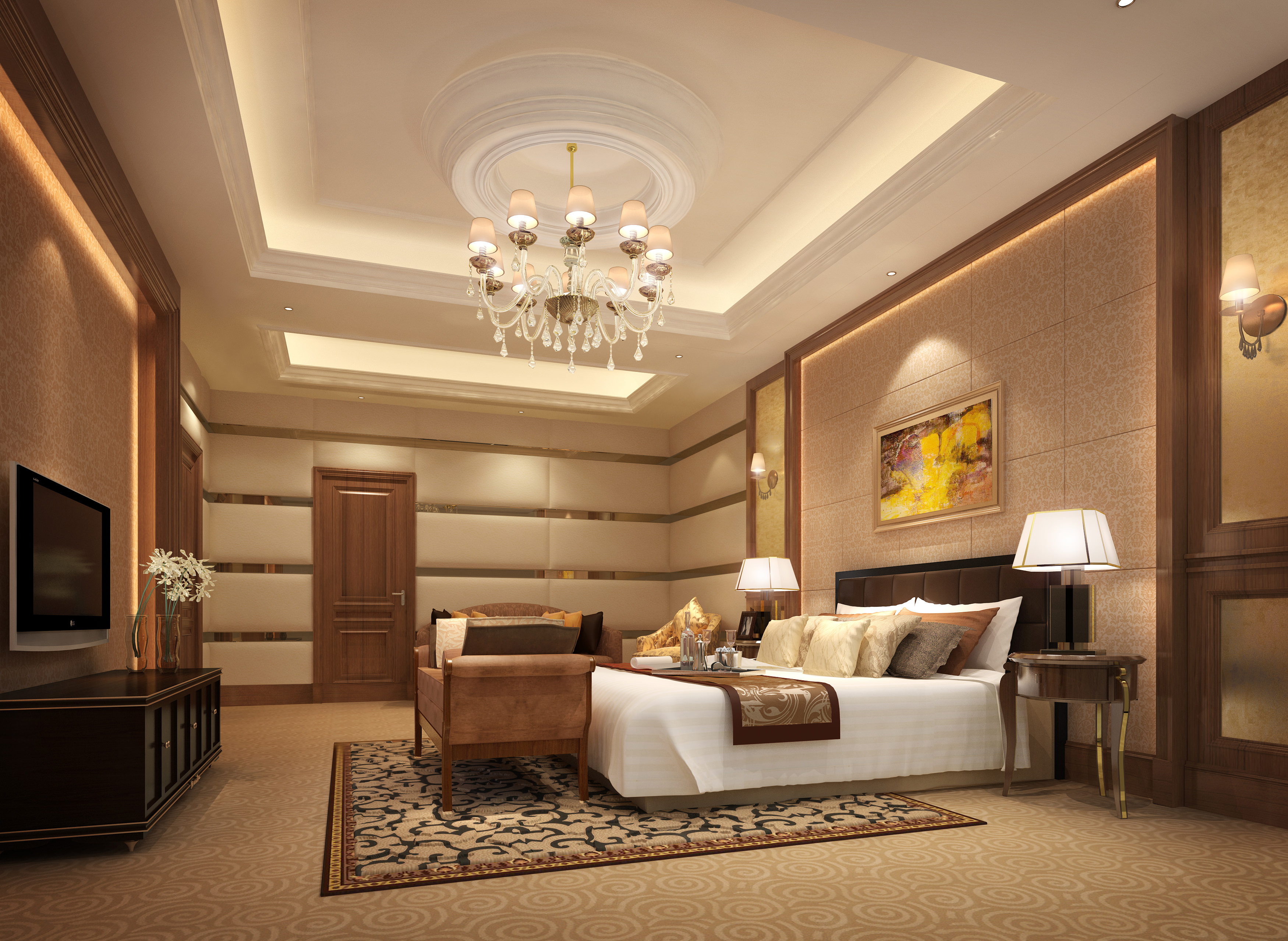 Living Room And Bedroom Collection 11 3D Model MAX ... on Model Bedroom Design  id=46835