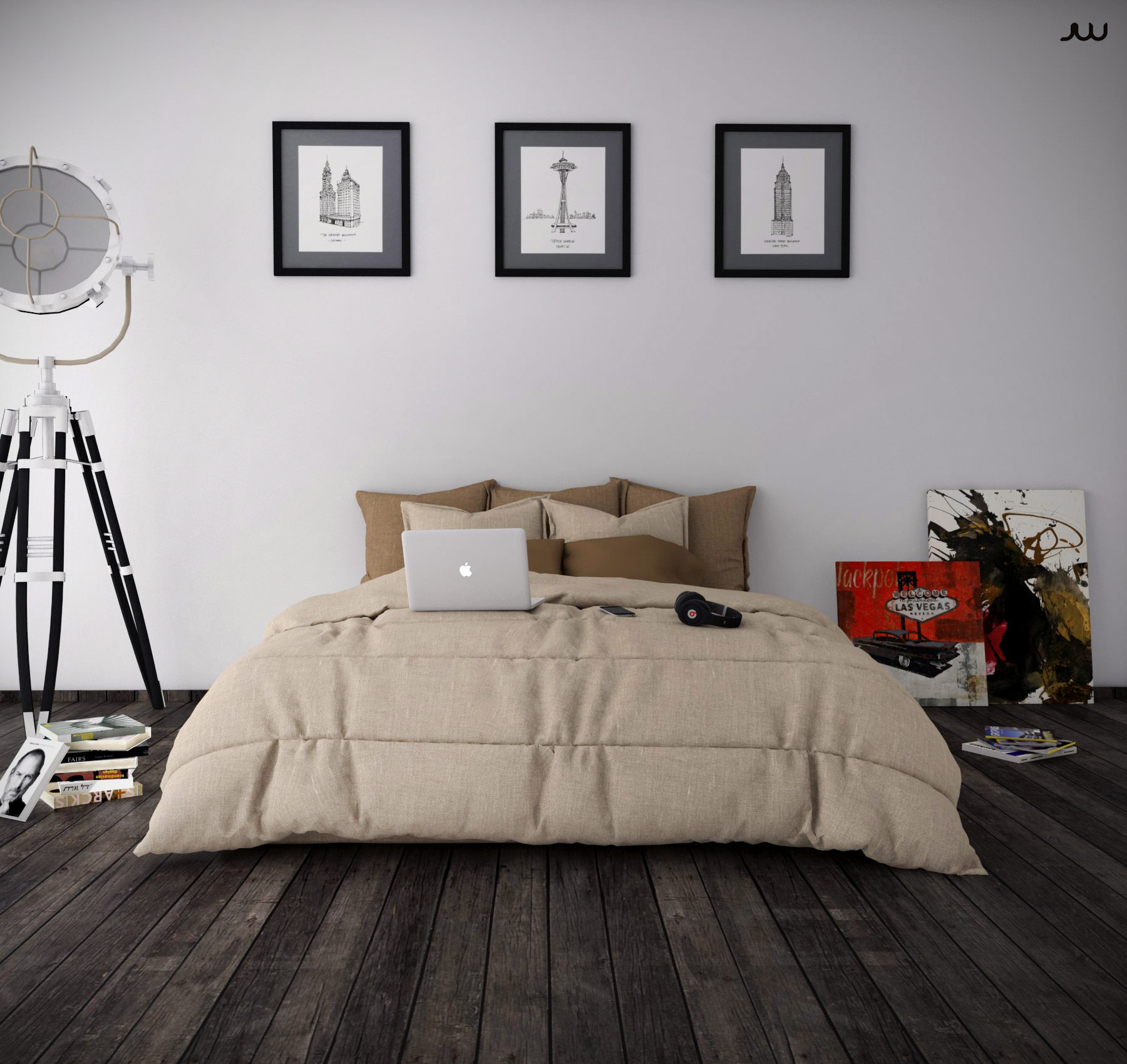3D model Bedroom minimalist | CGTrader on Model Bedroom Ideas  id=23379