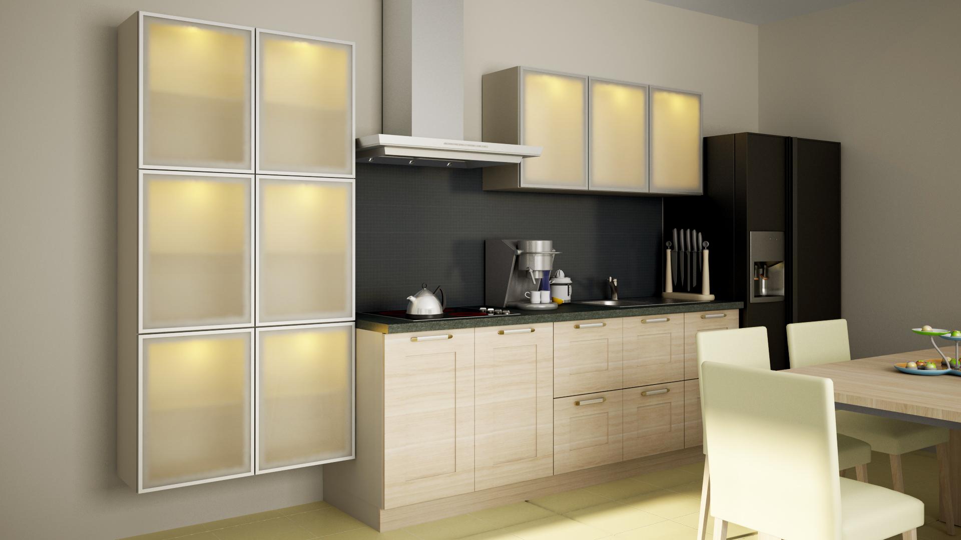 Modern Kitchen 3D Model MAX | CGTrader.com on Modern Model Kitchen  id=85239