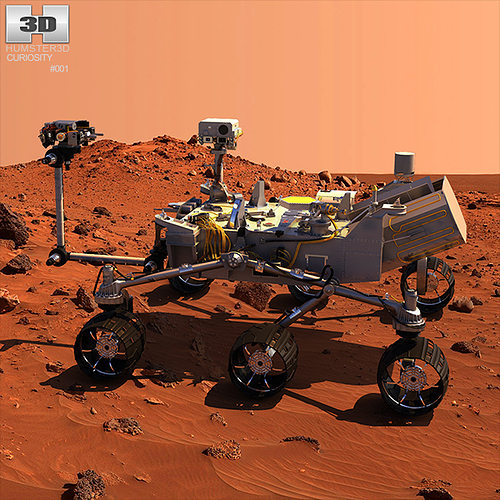 3D Curiosity Mars Rover CGTrader