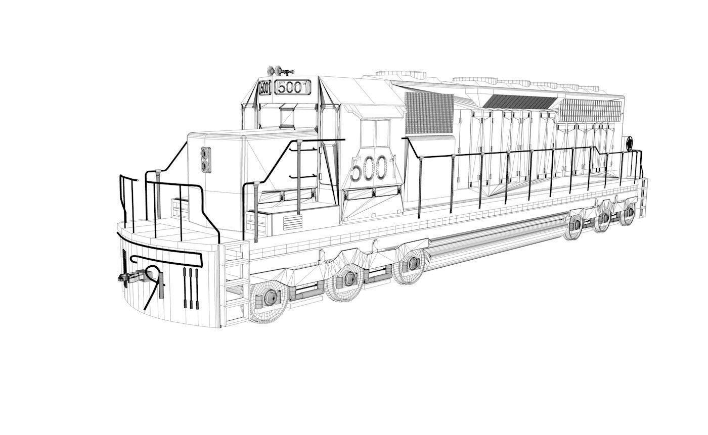 Sel Engine Train Cn 3d Model 3ds C4d