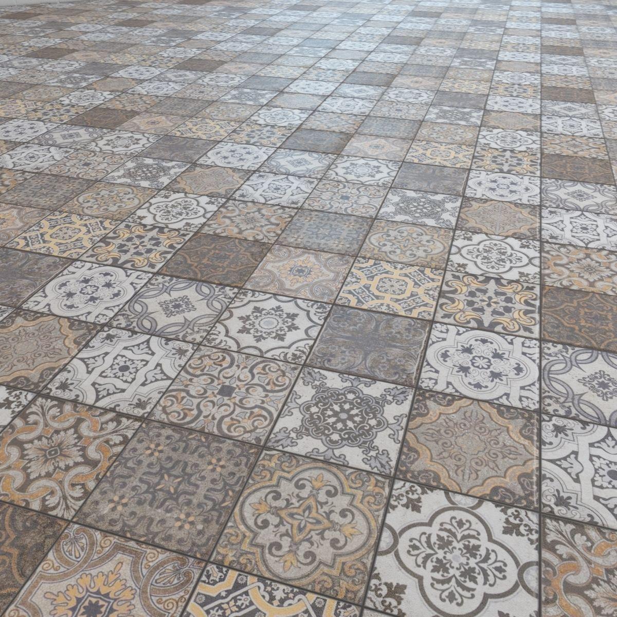 Floor tile Barber shop 3D Model MAX FBX   CGTrader.com on Tile Models  id=90786