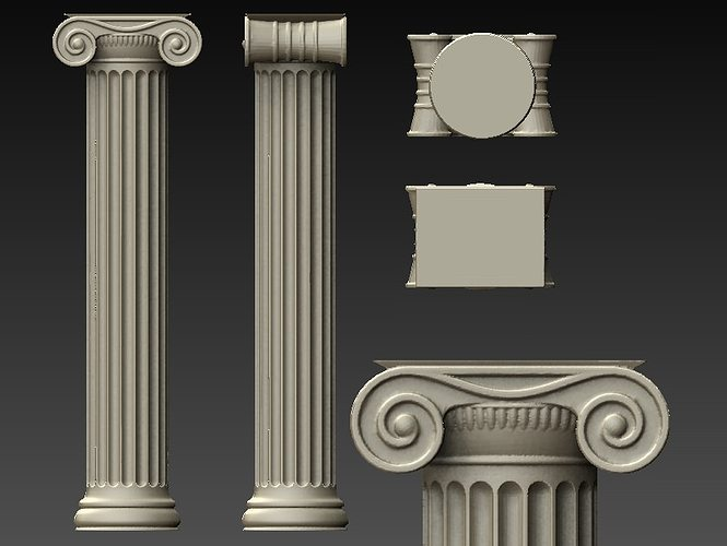 3D Printable Model Ionic Column CGTrader