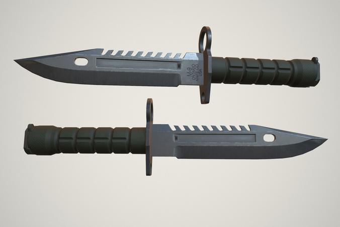 3D Model M9 Bayonet CGTrader