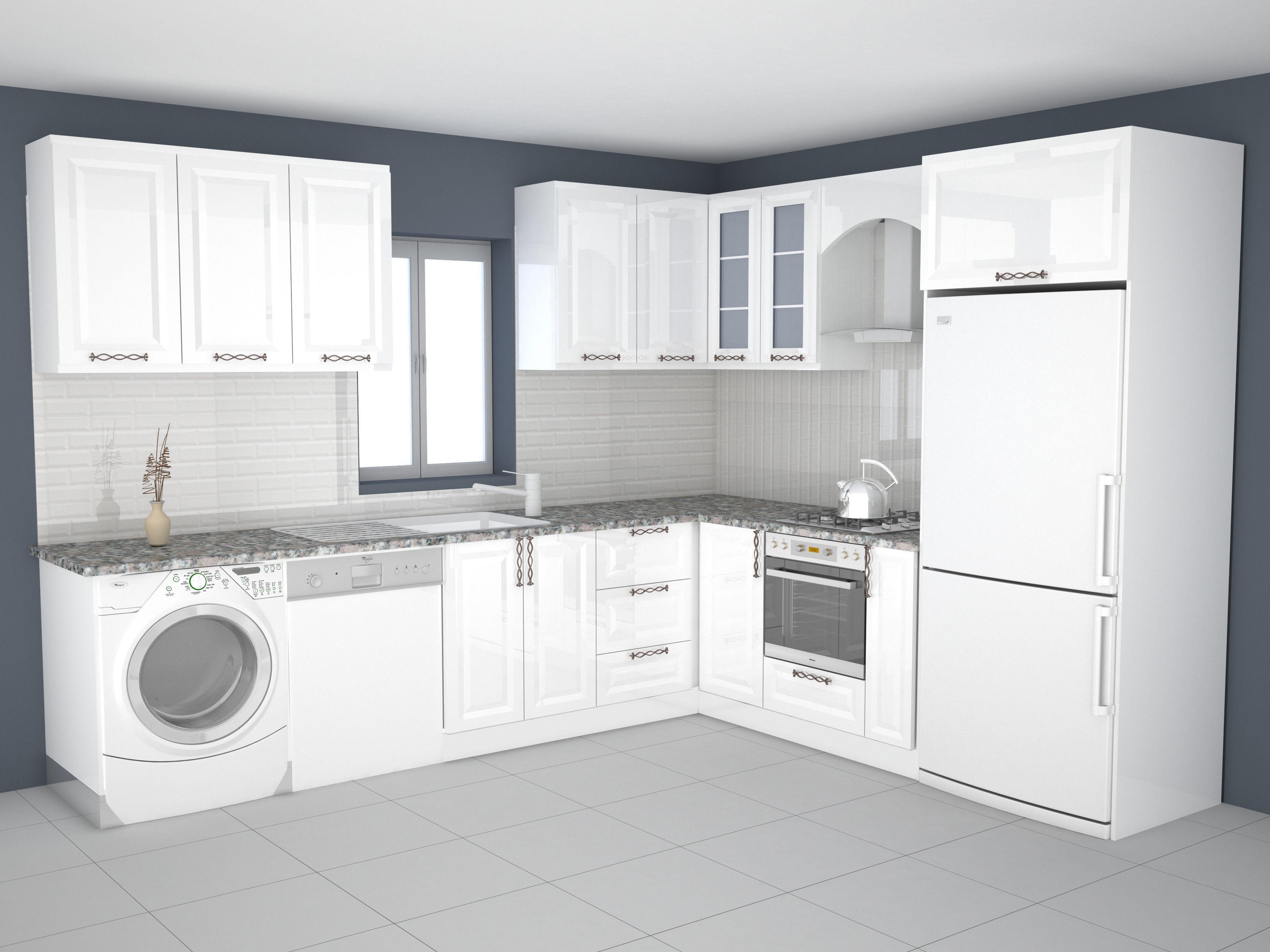 3D printable model kitchen design | CGTrader on Model Kitchen Ideas  id=14645