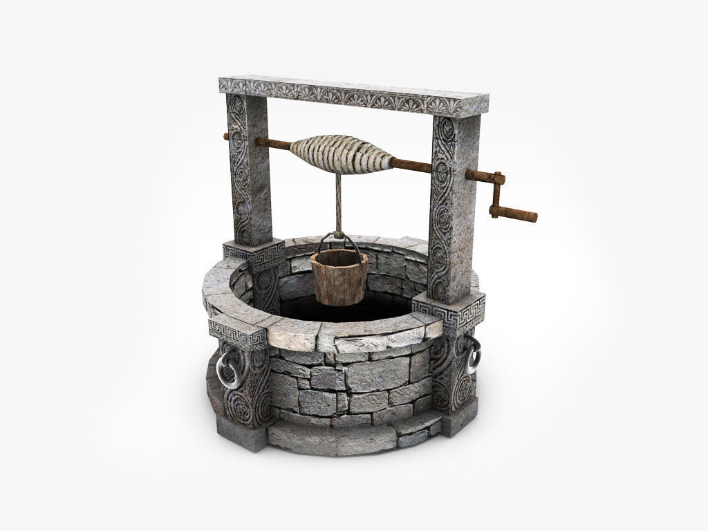 low-poly Old stone well model | CGTrader on Granite Models  id=77987