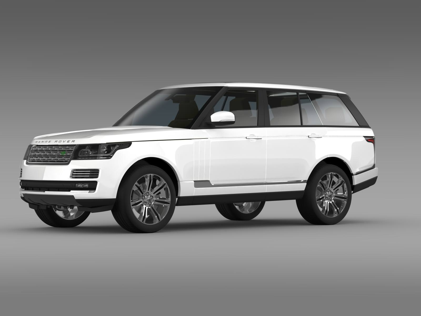 Range Rover Autobiography Black L405 2014 3D model MAX OBJ 3DS FBX