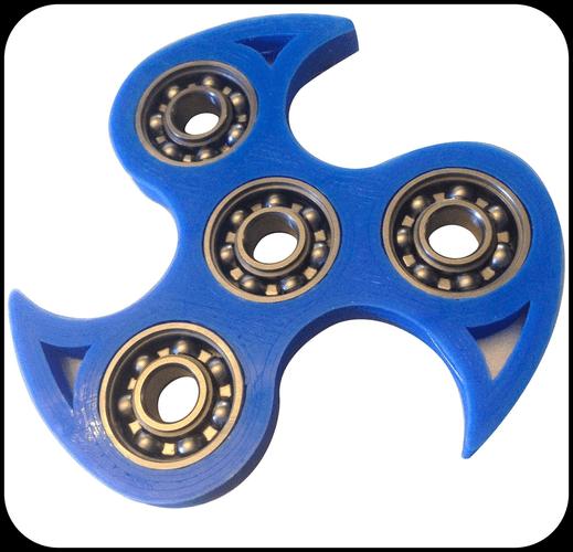 3D Printable Model Fidget Spinner Blade Design CGTrader