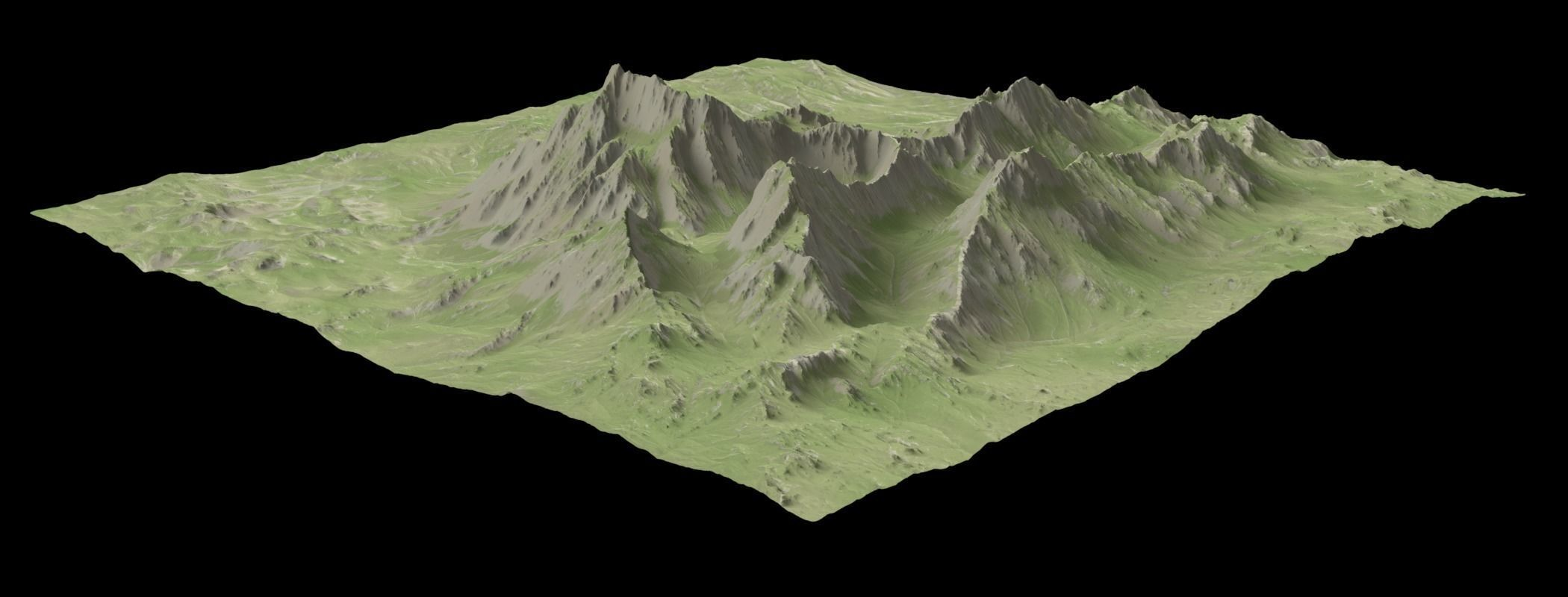3d model vr ready mountain | cgtrader
