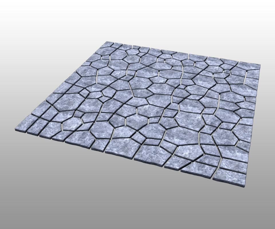 Stone ground tiles 3D Model MAX OBJ FBX   CGTrader.com on Tile Models  id=92489