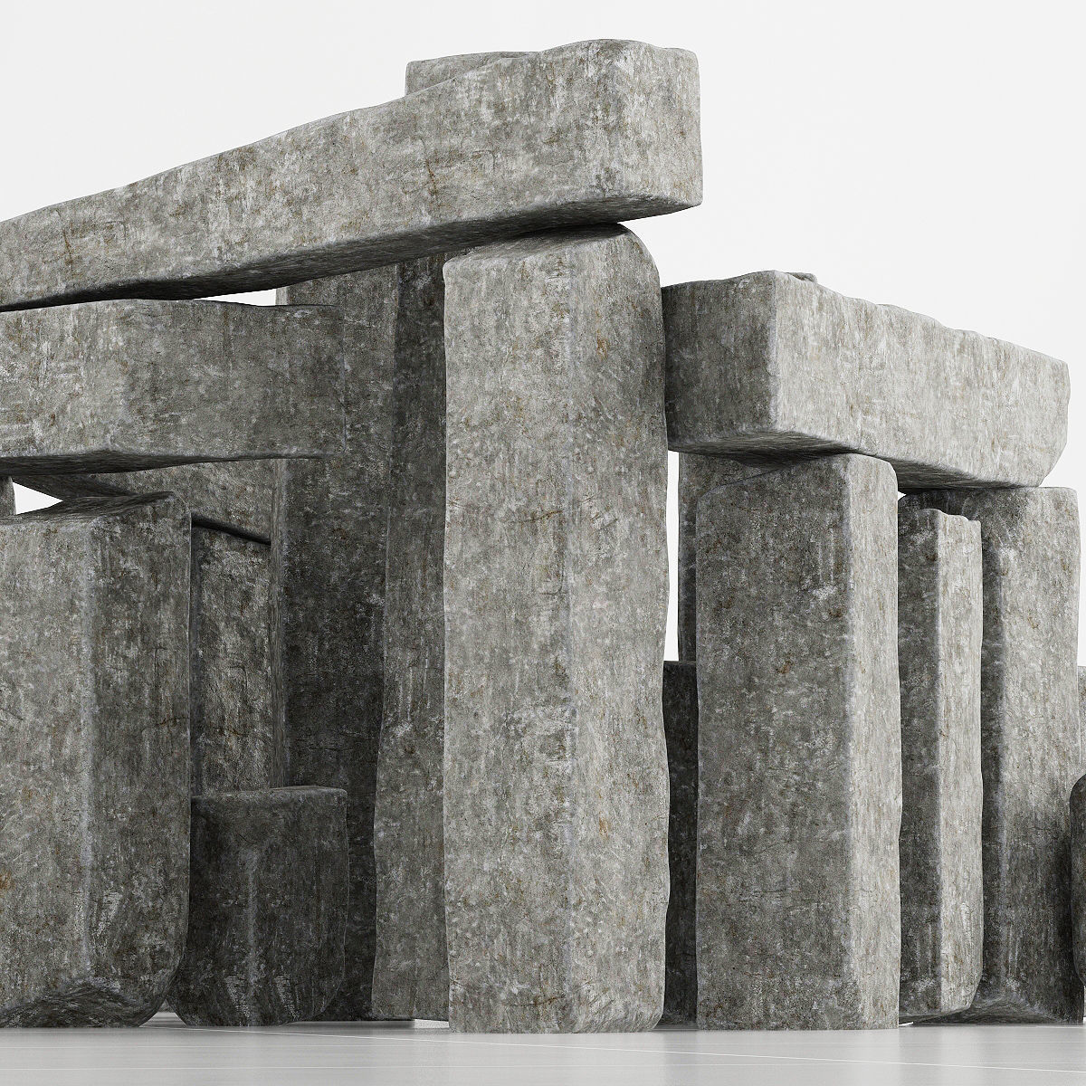 Stone block collection n2 3D model | CGTrader on Granite Models  id=31979