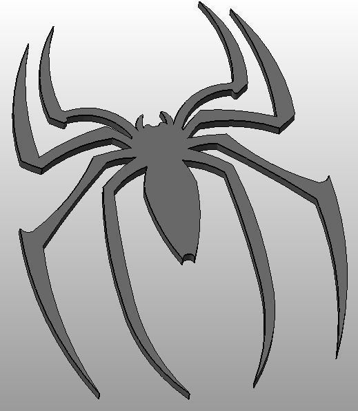 Marvel Spiderman Logo 2 Spider Only 3D Printable Model