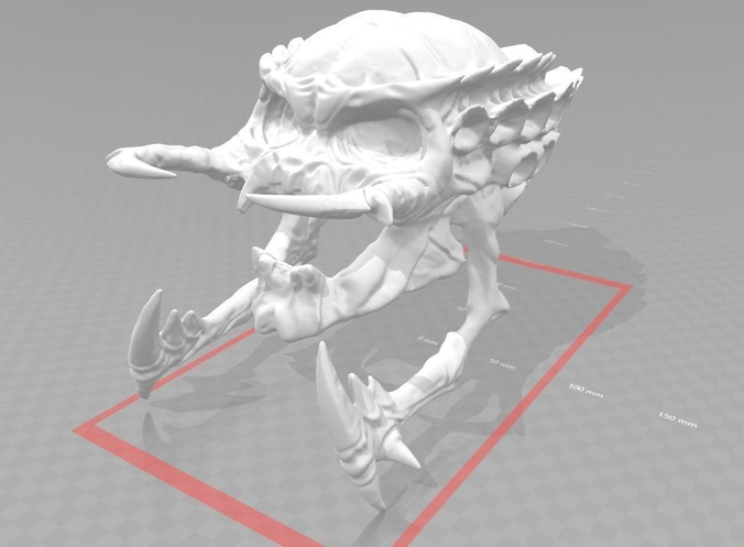 3D Print Model Alien Predator Skull CGTrader