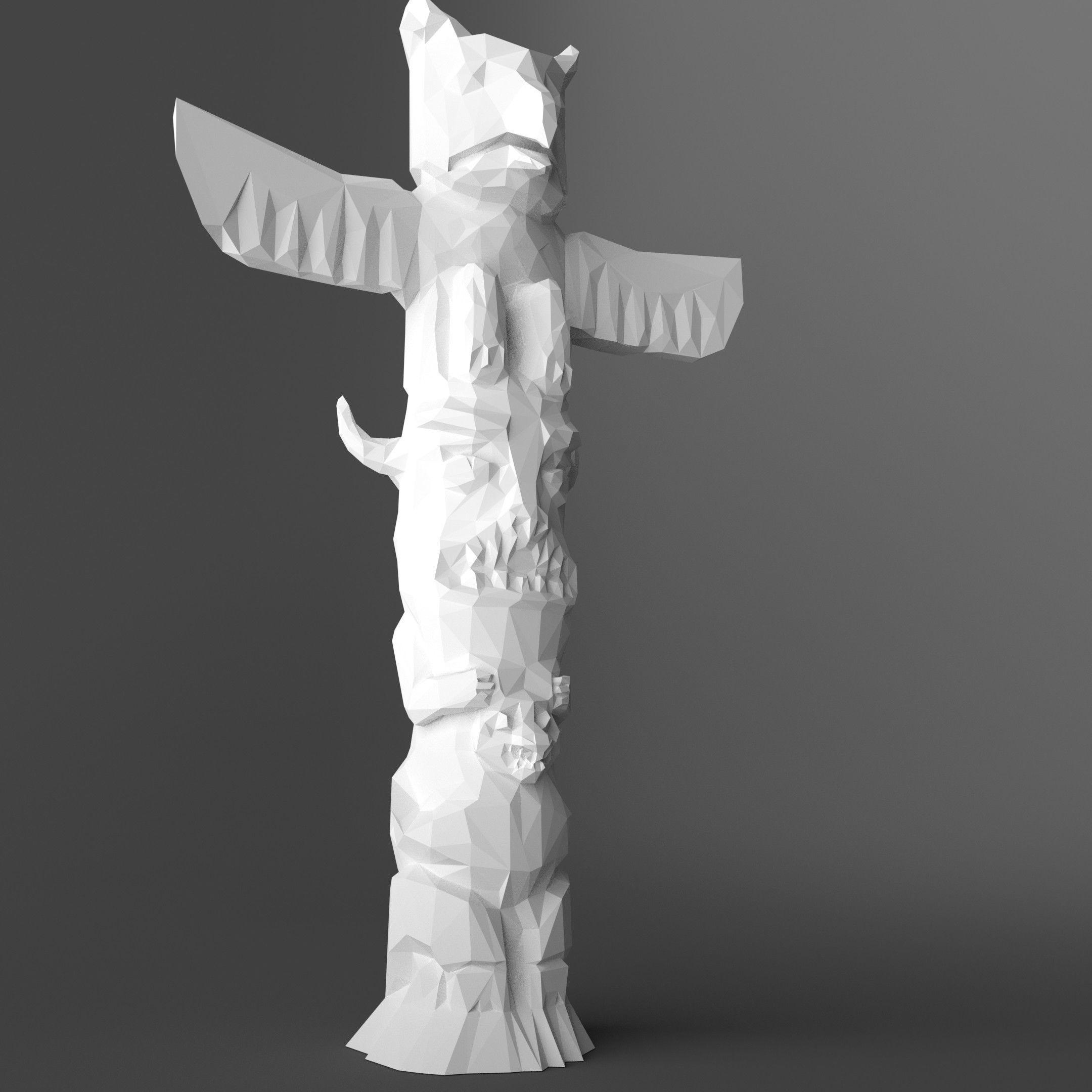 Low Poly Low Poly Totem 3d Print Model