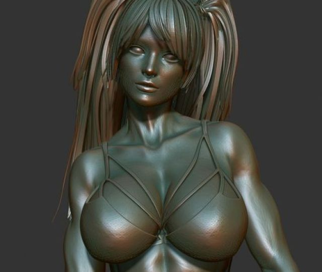 3d Naked Girl Printable Ad Model Obj Mtl 3ds Stl 13