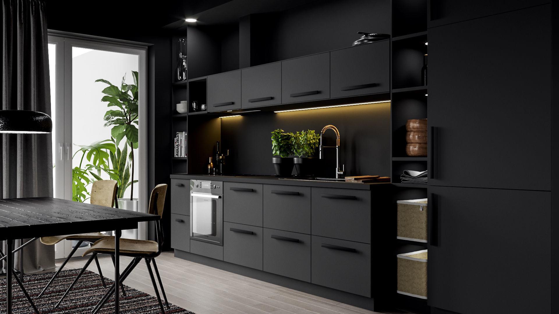 IKEA Kitchen Scene 3D model | CGTrader on Modern:8-Rtxafges8= Model Kitchen  id=15935
