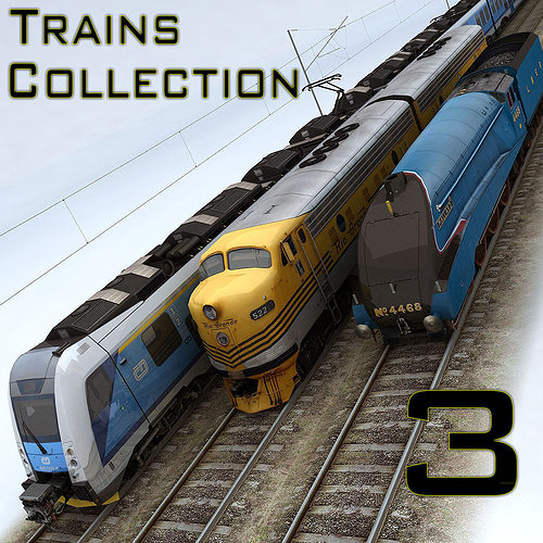 3D Asset Trains Collection 3 CGTrader
