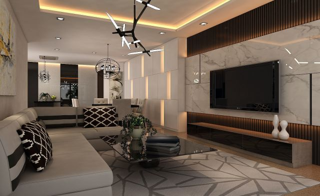 3D LIVING-DINING HALL INTERIOR DESIGN ver 1 | CGTrader