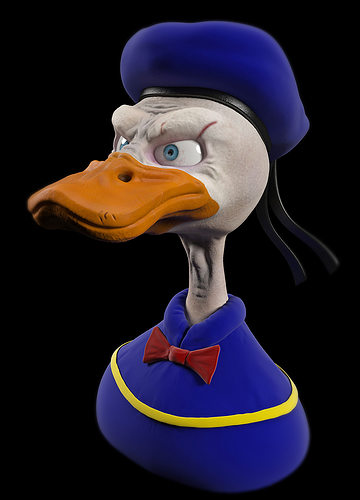 Human 3D Model Donald Duck CGTrader