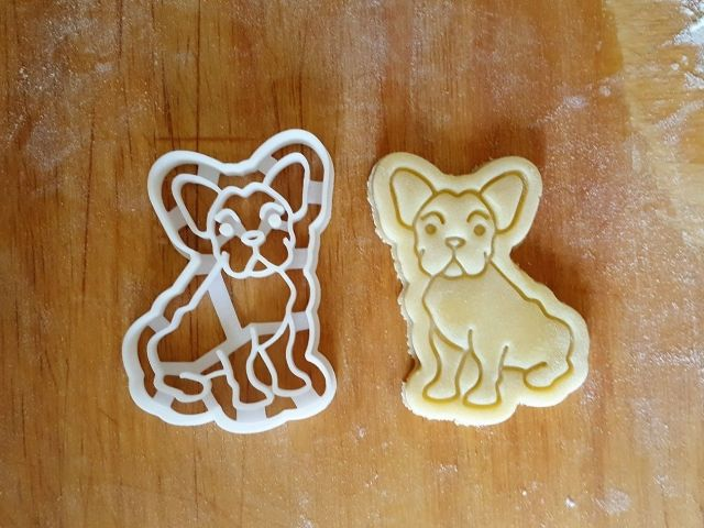 french bulldog frenchie cookie cutter | 3d print model