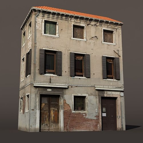 3D Apartment Building Venice Low Poly 144 CGTrader