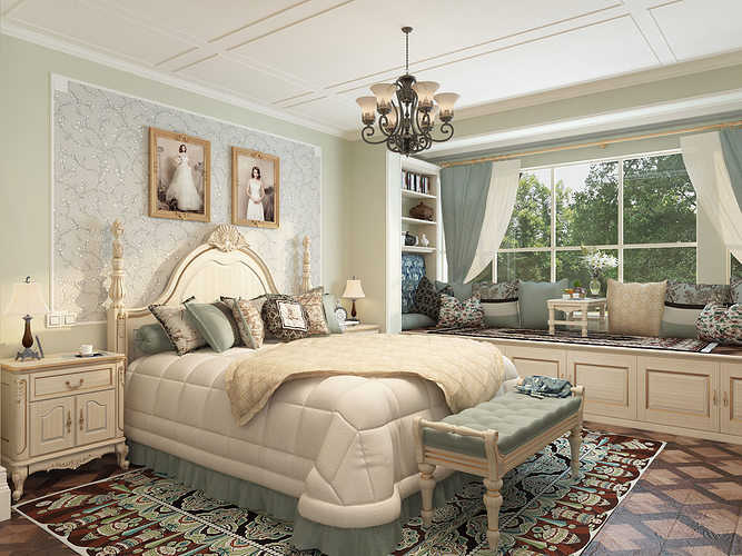 3D model New classicism style with cloakroom large bedroom on New Model Bedroom  id=76514