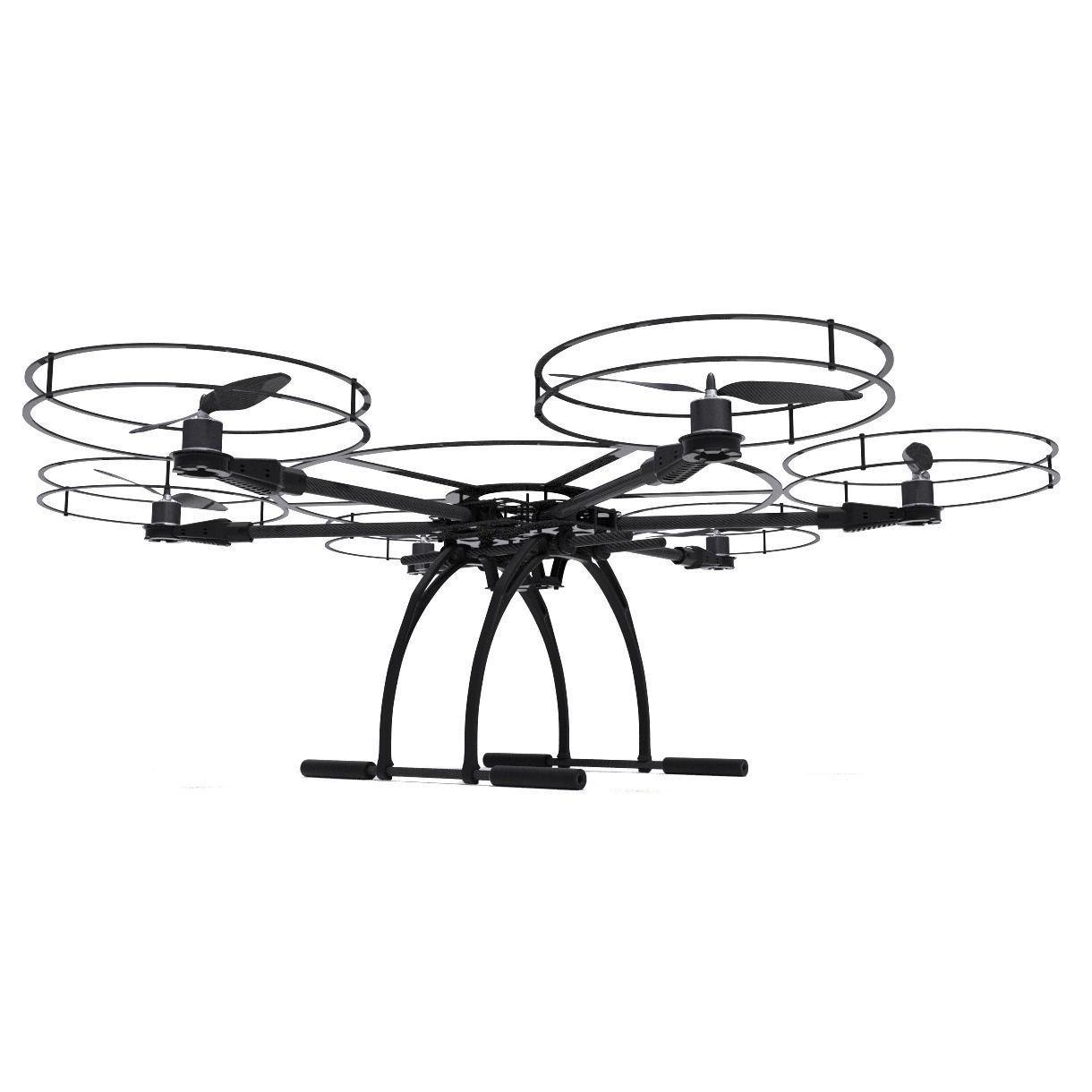 Hexacopter Drone 3d Model Obj Fbx Dxf Stl Blend Mtl