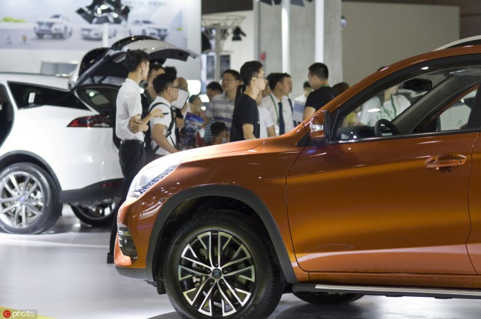 China auto sales down 6.9 pct in August 2