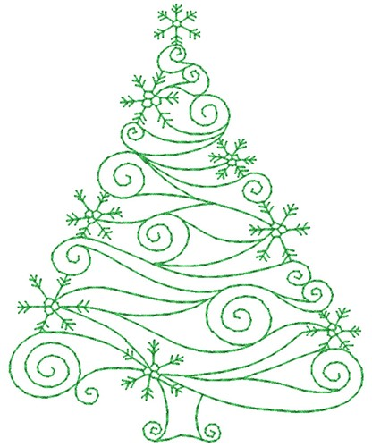 We may earn commission on some of the items you choose to buy. Swirly Christmas Tree Embroidery Designs Machine Embroidery Designs At Embroiderydesigns Com
